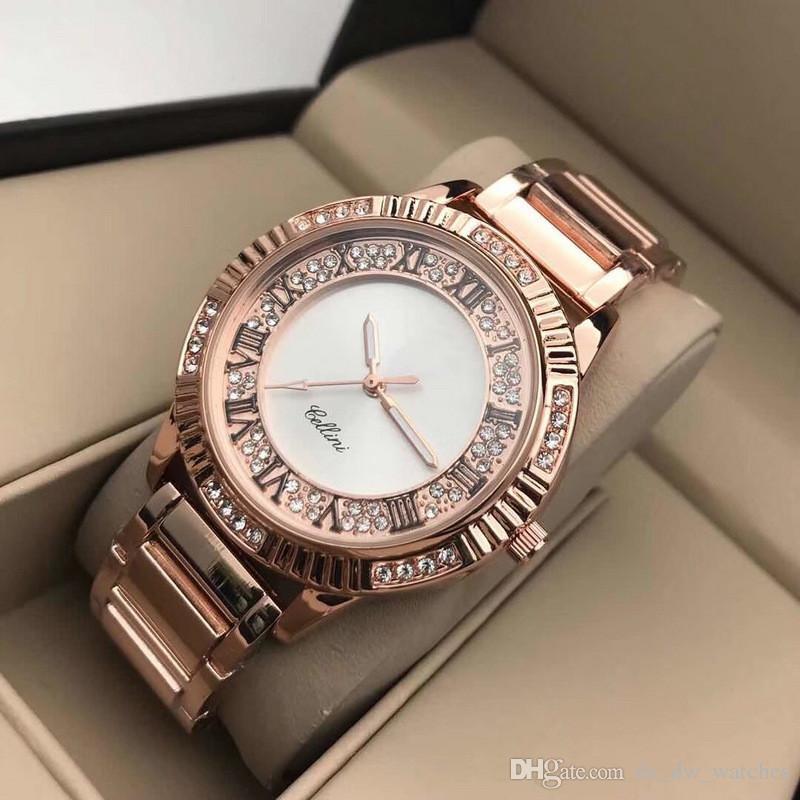 36a4cb47507c Compre 2019 Nueva Marca Suiza De Lujo Relojes De Lujo Para Mujer Reloj De Oro  Rosa De Lujo Reloj De Regalo De Moda Reloj Para Mujer Relogio Cuarzo Marca  ...