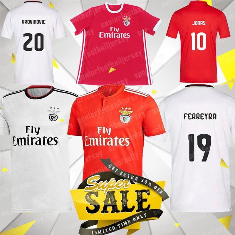 the latest ea35d 27d19 19 20 SL Benfica Soccer Jersey PIZZI JONAS GABRIELB 79 JOAO FELIX 2019 2020  Thailand Quality Men Home Football Shirt