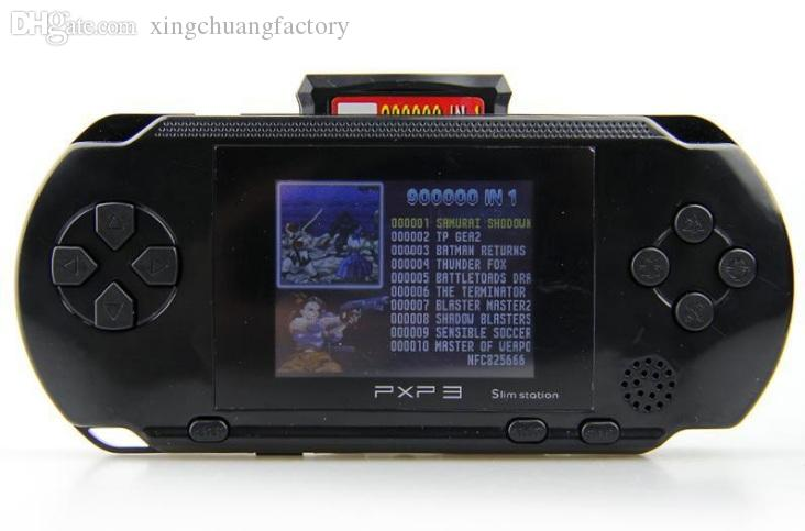 Portable PXP3 (16Bit) Game Handheld PVP TV Video Game Console Slim Station Game Players 2.7 inch Screen with retail package wholesaleprice