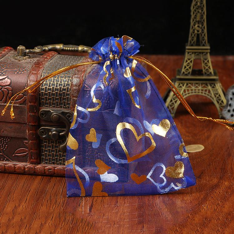 500Pcs 7x9cm Heart Organza Wedding Gift Bags/&Pouches