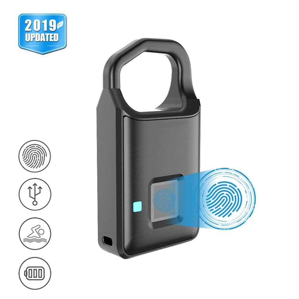 Fingerprint Padlock Waterproof Smart Biometric keyless lock Travel Lock Security Lock for School Locker, Gym, Backpack ZW07