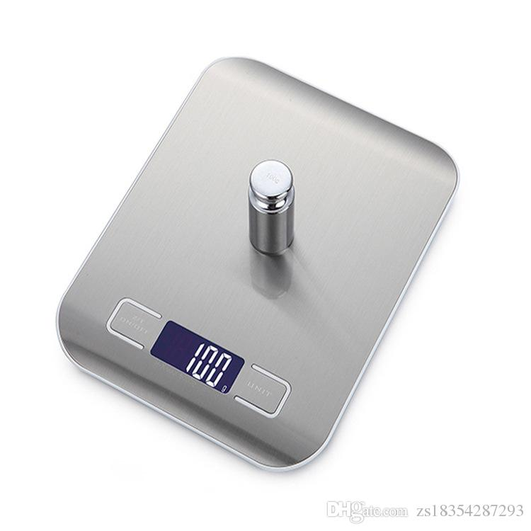0734654e3014 2019 New High Quality Precision Electronic Kitchen Scales Digital Stainless  Steel Food Scale Weight Balance Measuring Tool 5kg/1g No Battery