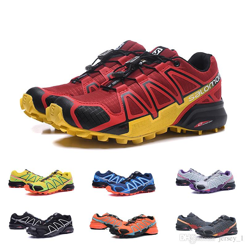 afe1d079a967 2019 2019 New Salomon Speed Cross 4 CS IV Mens Women Running Shoes Fashion  Sports Outdoor Jogging Athletic Sneakers Hiking Shoe From Jersey 1