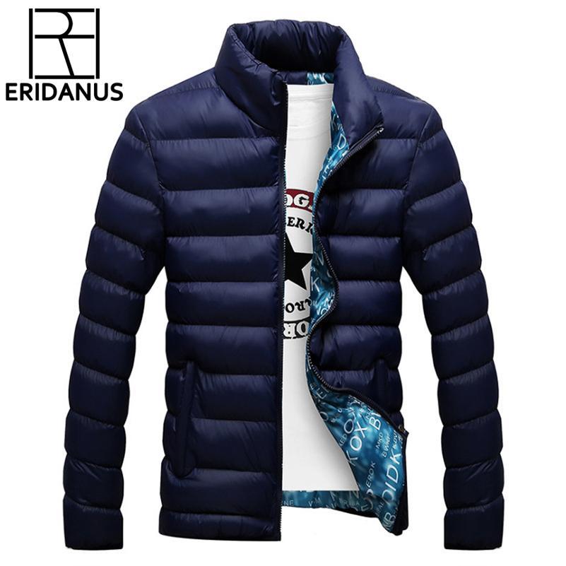 Neue Marke Jacke Männer Warmen Mantel Schwarz Outwear Chaquetas Plumas Hombre Winter Herren Mäntel Jacken Stehkragen Dünne Kleidung X625