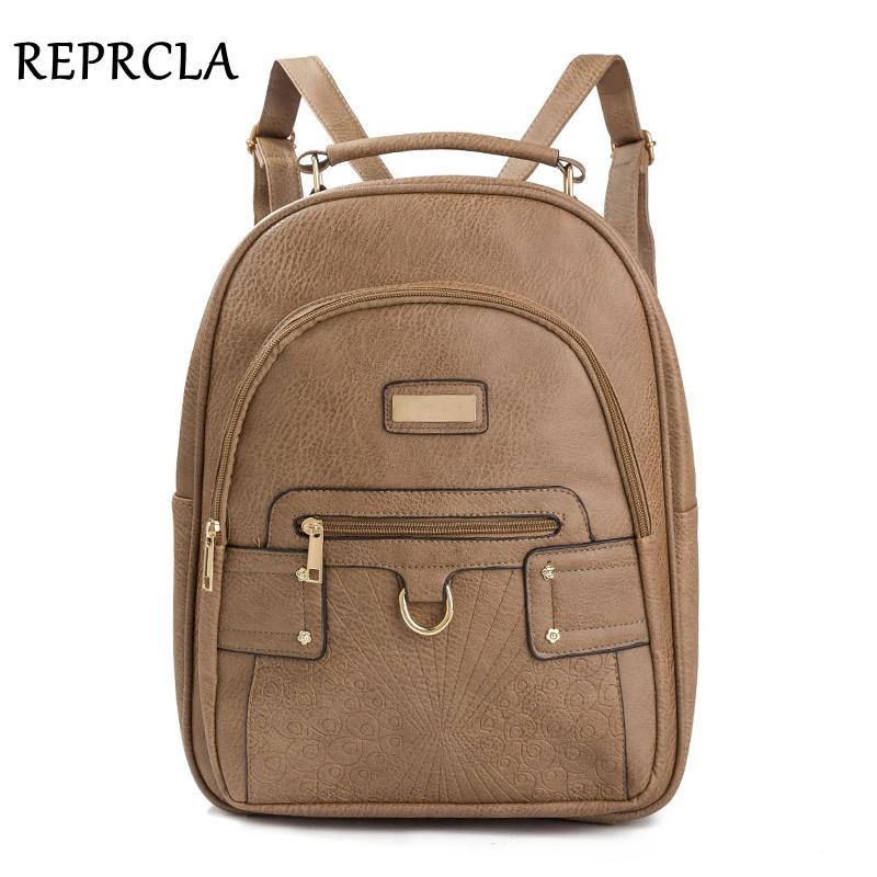 2019 FashionREPRCLA High Quality Women Backpack PU Leather Large School Bags  For Girls Casual Travel Shoulder Bags Female Backpacks Mochila Kelty  Backpack ... a6b6ec2667bf6