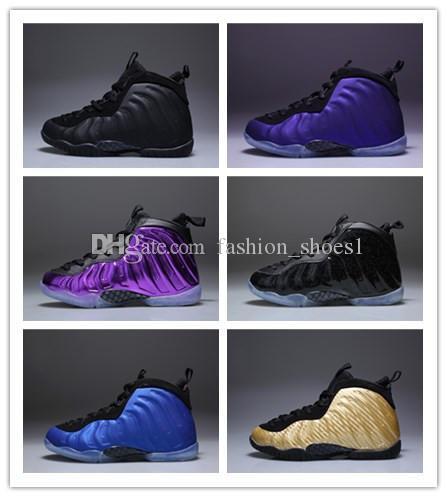 fa5ec9aee73 2019 Eggplant Penny Hardaway Kids Basketball Shoes Black FRUITY PEBBLES  Infant Children Athletic Pippen Duncan Sports Toldder Sneaker Kids Penny  Hardaway ...