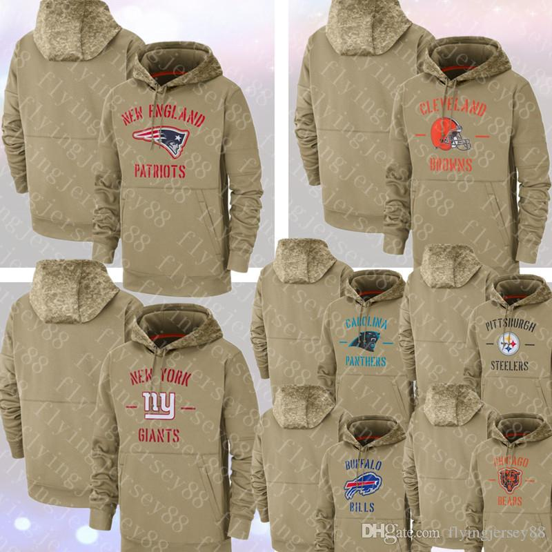 Hoodies New Patriot York # Giant Cleveland # Brown Pittsburgh Mens Steeler Jersey Panther Bill Salute to Service Chicago Jerseys Bear