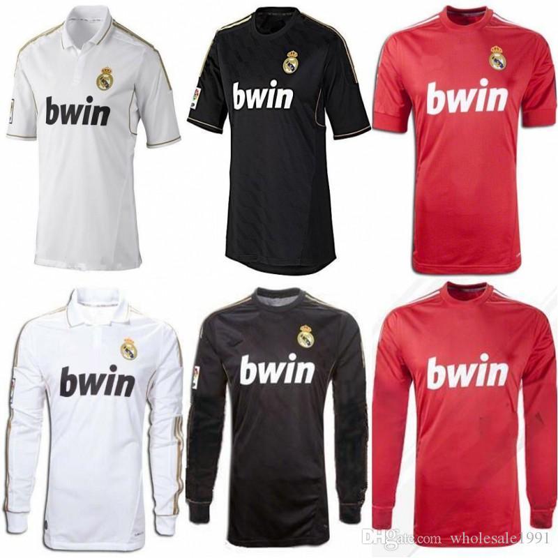 competitive price 40e15 e7018 2011 2012 KAKA Real Madrid Retro Soccer Jersey #7 RONALDO #20 HIGUAIN  Uniform 2012 ALONSO PEPE DI MARIA Long Sleeves Football Shirt