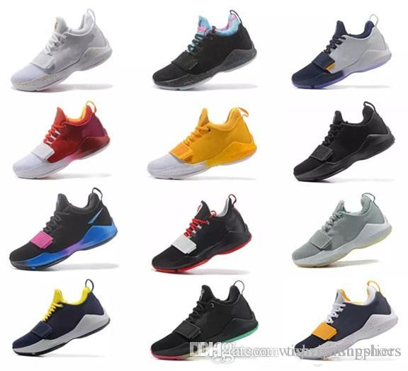 6e21385eb876 Men Athletic Paul George PG 1 Flip The Switch Low Zoom Basketball Shoes  Adult I Green Glacier Grey Ivory Ferocity Shining Oreo Sneakers Shoes For  Men ...