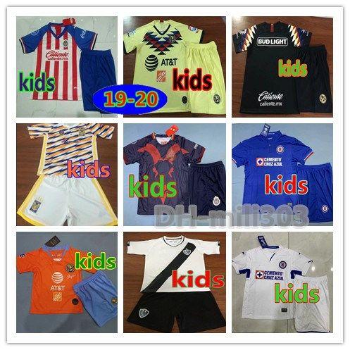 443aeafad27 2019 2019 LIGA MX Club America Cruz Azul Kids Kits Soccer Jersey 18/19/20  NAUL Tigrs UNAM Chivas Cougar Mexico Kids Football Shirt Uniforms From  Mili303, ...
