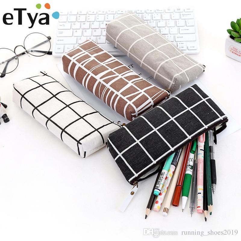 837635e8b41b eTya Women Small Cosmetic Bag Fashion Cactus Dot Print Makeup Bag Quality  Canvas Cute Pencil Case Organizer Make Up Beauty Bags #87341
