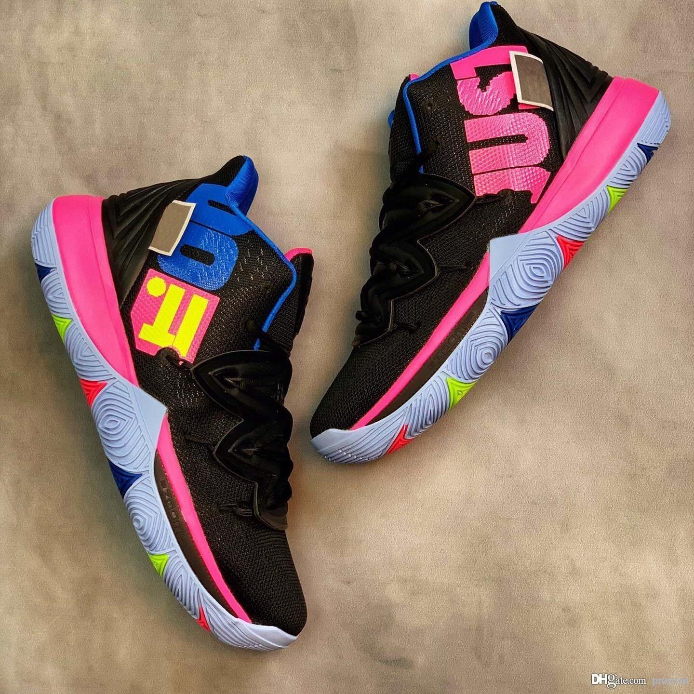9c77b027ec20 2019 Mens 5s Taco Black Magic Kyrie Basketball Shoes Multi Color CNY ...