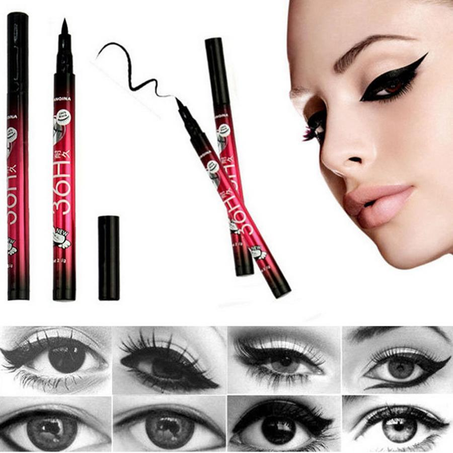 36H Waterproof Black Eyeliner Makeup Black Eyeliner Waterproof Liquid Make Up Beauty Comestics Eye Liner Pencil RRA1448