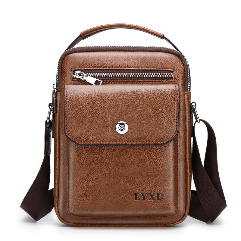 352ce5da491244 Men Pu Leather Fashion Shoulder Bag High Quality Travel Crossbody ...