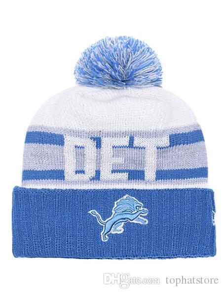 972c323b1de Promotion Pom Poms Christmas Wool Lions Knitted Hat Skullies Winter ...