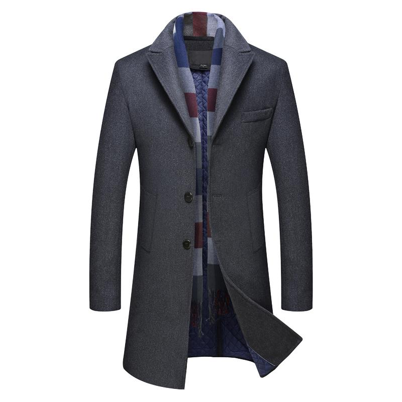4b746c7a458 ... De Los Nuevos Hombres De Invierno Desmontable Un Solo Pecho Hombre  Abrigo Chaqueta De Lana Gruesa Medio Largo Cálido Outwear A $77.9 Del Karel  | DHgate.