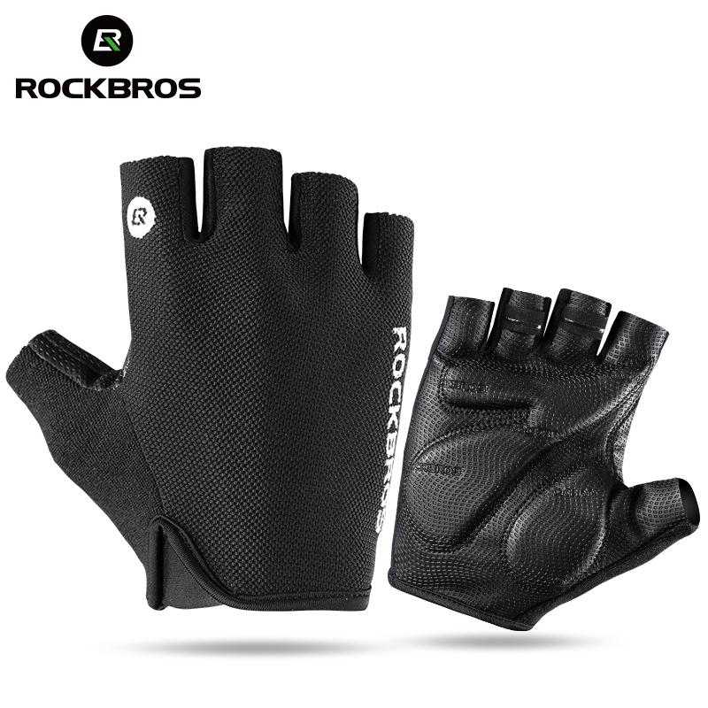 Bicycle Bike Half Finger Gloves Shockproof Breathable Men Women Summer MTB Mountain Sports Cycling Clothings