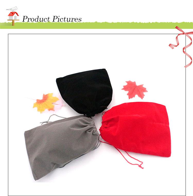 Gift Bags 17x23cm Candy Bags Drawstring Wedding Favor Cheap Jewelry Pouch Small Velvet Jewelry Christmas Gift Pouches Custom