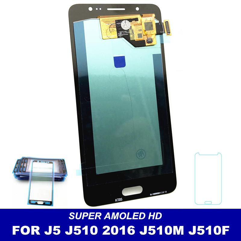 100% Tested AMOLED LCD For Samsung Galaxy J5 2016 J510 J510FN J510F J510Y  J510M J510G Screen Display Touch Digitizer Assembly