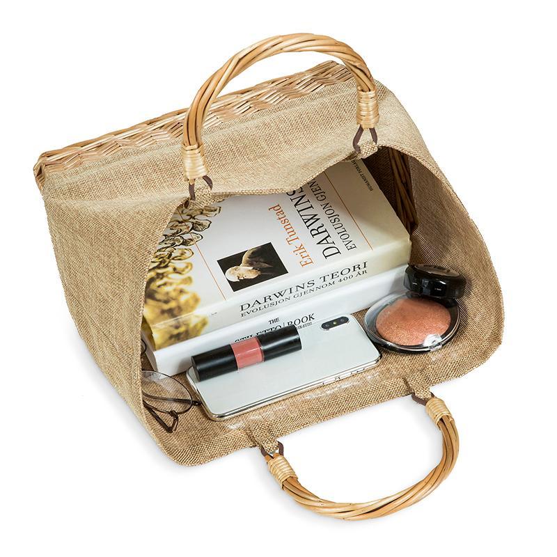 LEFUR 2019 Straw PVC Waterproof Bag Women Rattan Clutch Handbag Summer Beach Bag For Women Leisure Ladies Tote Bolsa Feminina