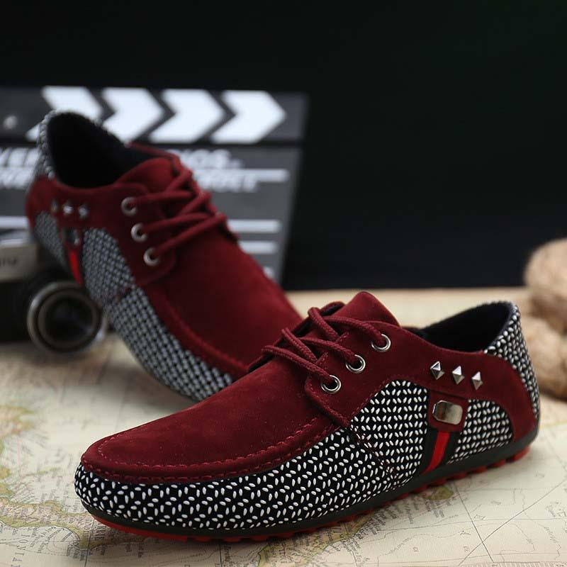 New fashion men's shoes lightweight breathable shoes casual low-top men's sports peas