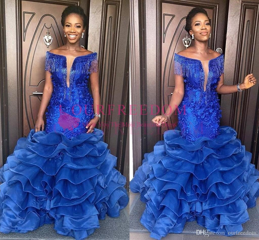 ad28023a9be4 2019 Gorgeous Off The Shoulder Prom Dresses Beading Lace Appliques ...