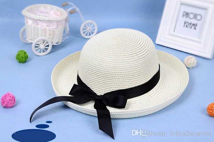 ... Cappello Di Paglia Estate Femminile Piccolo Fresco Coreano Versione All  Prose Viaggio Vacanza Spiaggia Parasole Sunscree Pieghevole Cappello Da Sole  ... 61228aa09f40