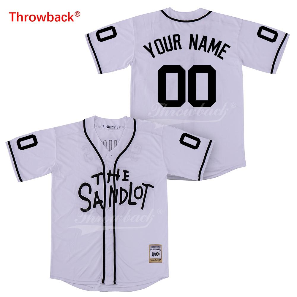 best sneakers 14f1b 42cc7 Throwback Jersey Men s The Sandlot Jersey Movie Baseball Jerseys Customized  Shirt Any Name Number Colour White Size S-XXXL Cheap