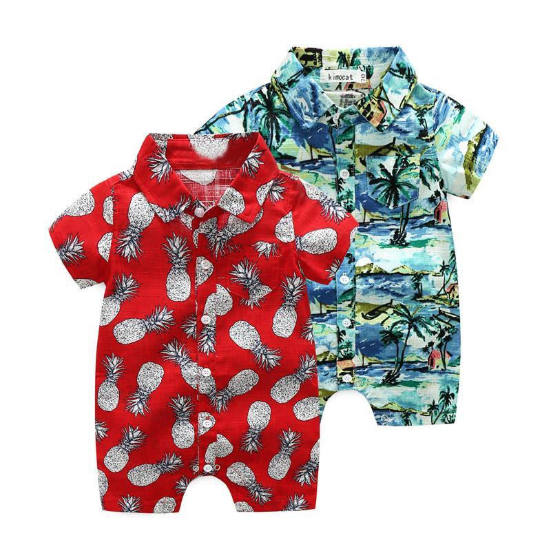 Compre Ropa De Verano Para Niños Bebés Pantalones Cortos De Estilo Hawaiano  Mamelucos Rojos Mono Infantil Ropa Infantil Coco Trajes De Bebé Piña A   34.82 ... be0e15124f1