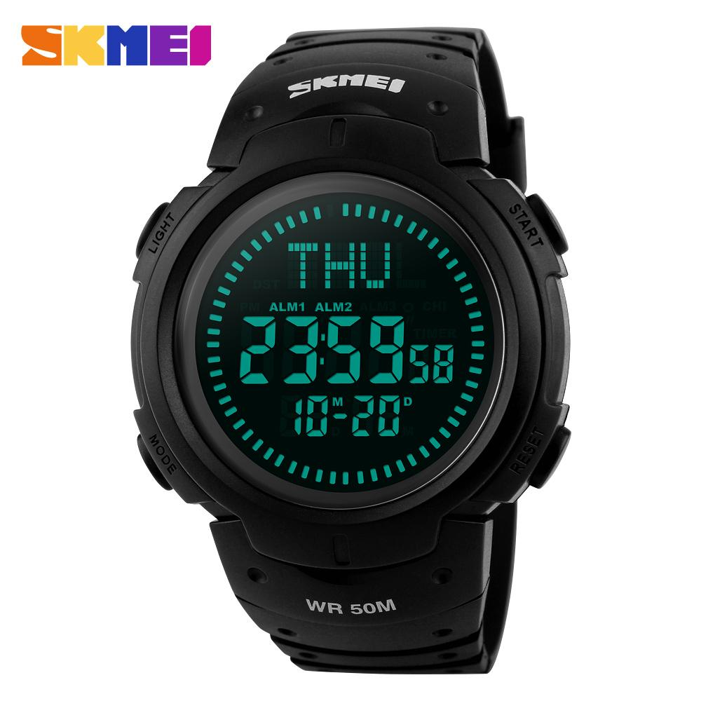 Men's Watches Digital Watches Zk20 1231 Outdoor Sports Compass Watches Hiking Men Watch Digital Led Electronic Watch Man Sports Watches Chronograph Men Clock