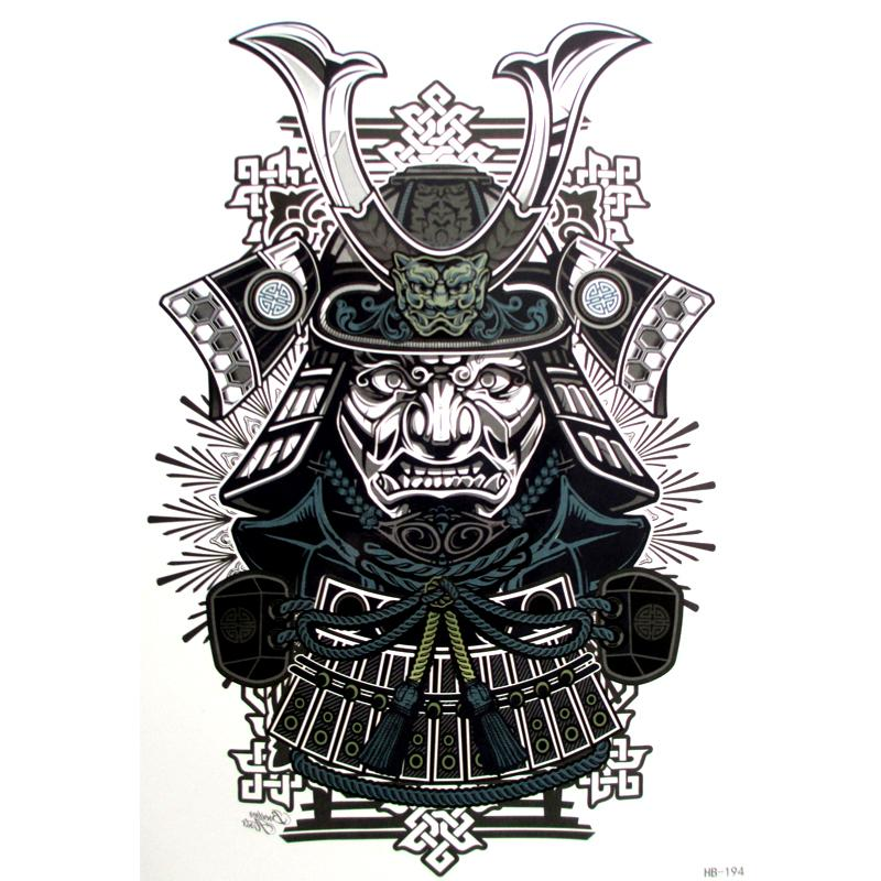 10pcs Sexy Cool Beauty Japanese Samurai Warrior Tattoo 21 X 15 CM Tattoo Waterproof Hot Temporary Tattoo Stickers
