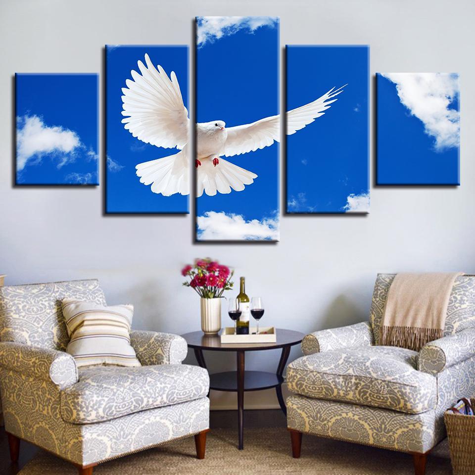 Acheter Affiche Moderne Pour Salon Toile Peinture Panneau Animal Blanc  Oiseau Mur Art Décoration De La Maison Cadre Images HD Imprimé De $9.62 Du  Z793737893 ...