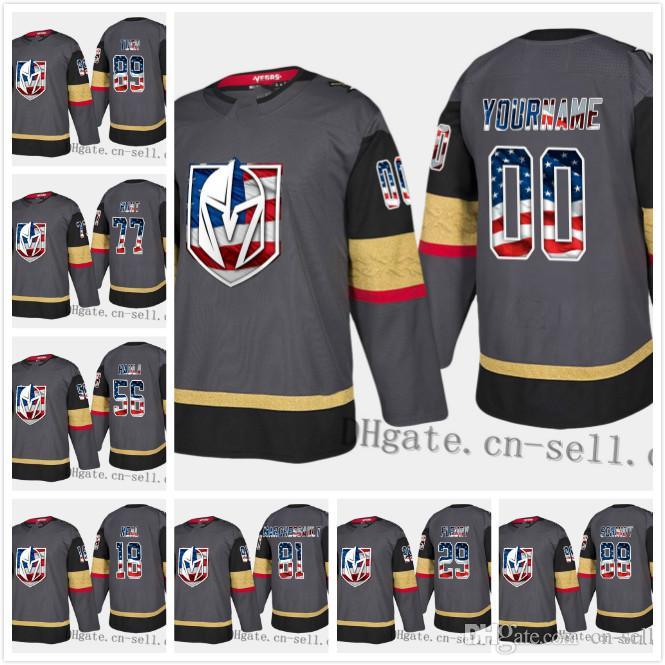 8a09bd7144f 2019 Vegas Golden Knights Custom 89 Alex Tuch 77 Brad Hunt ...