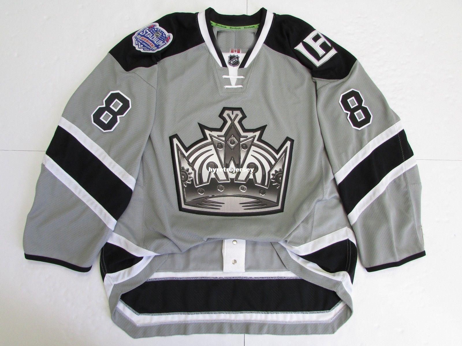 Cheap Custom DREW DOUGHTY LOS ANGELES KINGS 2014 STADIUM SERIES JERSEY  Stitch Add Any Number Any Name Mens Hockey Jersey GOALIE CUT 5XL Retro  Hockey Jersey ... 0b9c5ad03