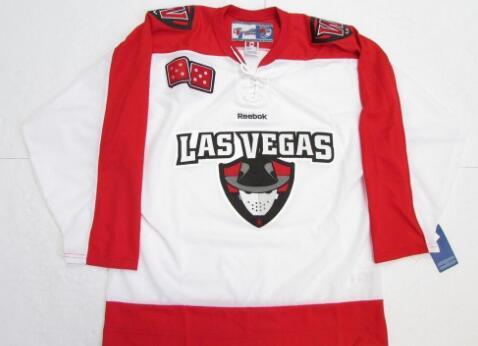 super popular bb951 ff9c2 Customize LAS VEGAS WRANGLERS WHITE ECHL HOCKEY JERSEY Embroidery Stitched  or custom any name or number retro Jersey