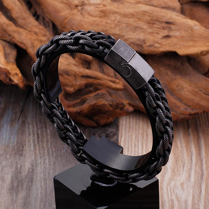ashion Jewelry Bracelets TrustyLan Heavy Chain Link Stainless Steel Men's Bracelet For Men Mens Bracelets & Bangles 2018 Biker Jewelr...