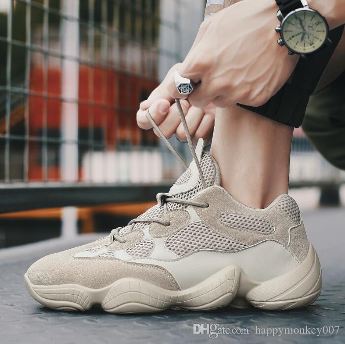 Mesh Chaussures de sport pour hommes de nouvelle noix de coco vente chaude Sports vent Casual chaussures Low Cut version coréenne de la marée Running