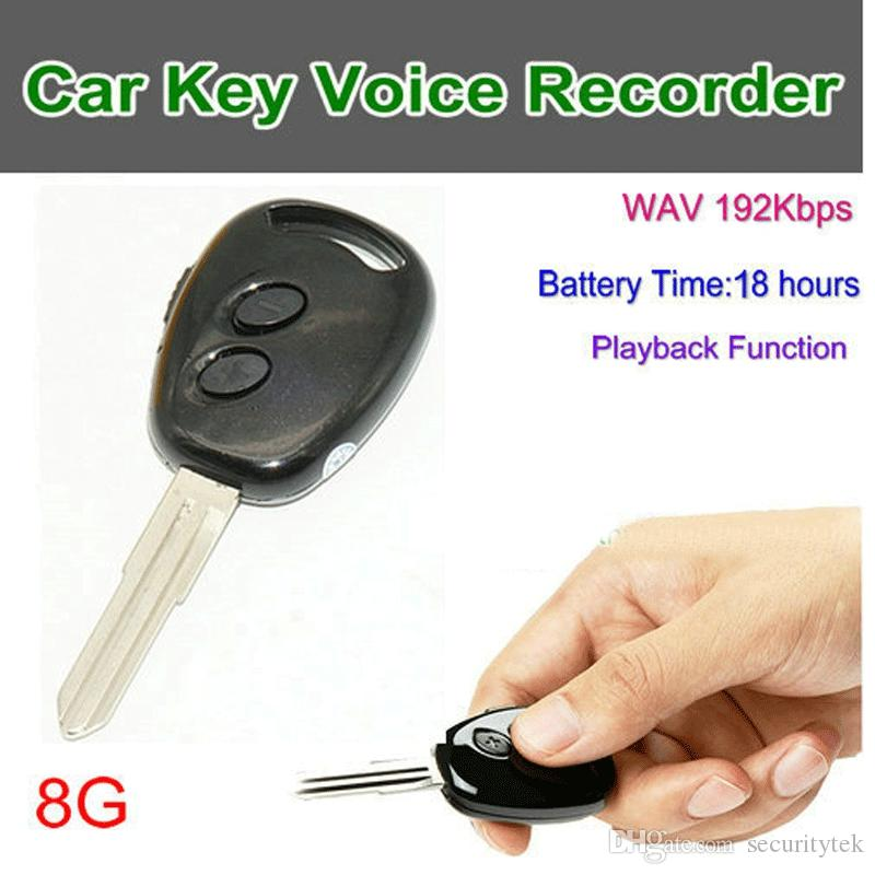 VR09 Mini Audio Carkey Digital Voice Recorder, WAV 192kbps 48KHz, Playback function, Time setting, Build in 8G