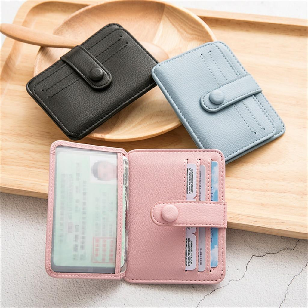 Solid Women Short Wallets High Quality Mini Money Purses Small Fold Female Slim Coin Purse Card Holder billetera mujer