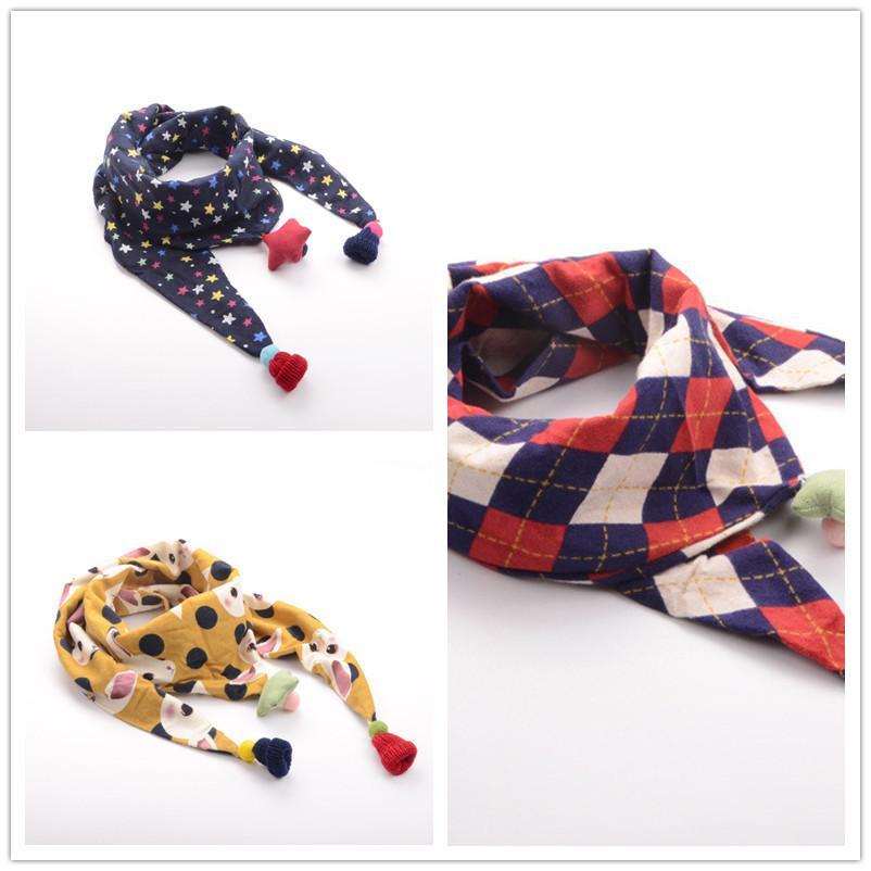 good quality newborn 2019 fashion baby girls boys scarf winter autumn  cartoon cotton neck scarf casual clothing for infant scarf