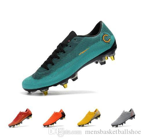 58f9d6031445 2019 Mens Mercurial Superfly XII PRO SG Indoor Soccer Shoes Mercurial  Superfly Chaussures De Football Cr7 Cleats Boots From Mensbasketballshoe,  ...