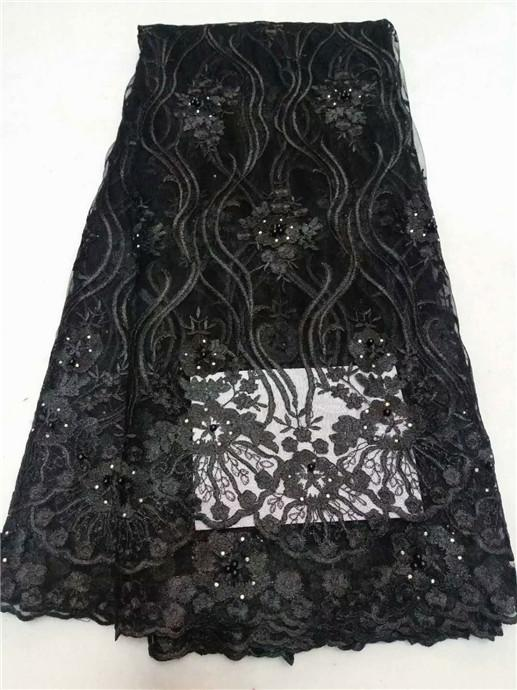 c30ef22547e3f Beautiful Design beads Embroidered Mesh Lace Fabric For Women Party Dress  Lace African Gold beads Guipure Net Lace Material Pink