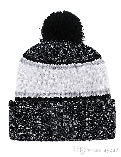 058176152 Free Shipping-2018 New Los Angeles Ice Hockey Beanie Sports Winter Wool Hat
