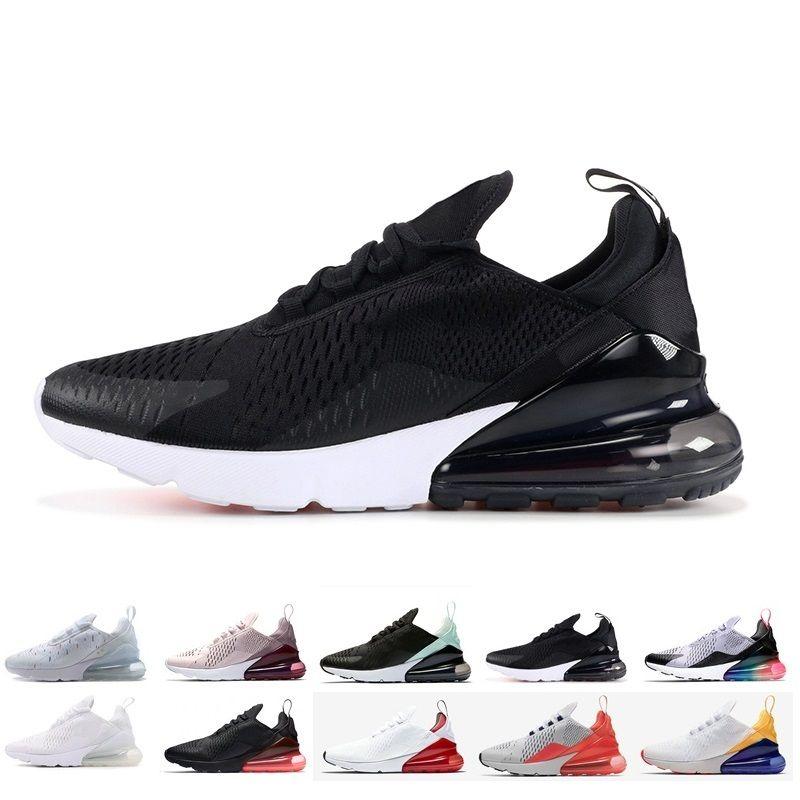 Nike air max 270 designer shoes 2019 Campeón francés Zapatos ari 270 2 estrellas Negro Blanco Cojín Triple Moda para hombre air zapatos casuales maxes