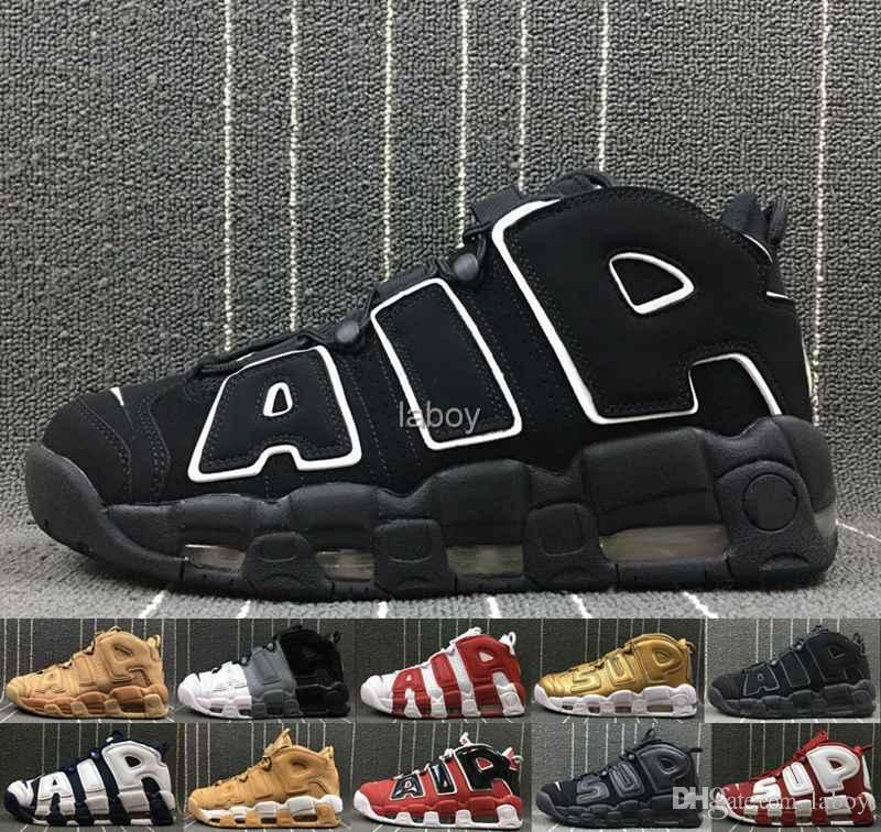 2019 Air More Uptempo 96 QS Olympic UNC Mens Basketball Shoes 3M Mens  Scottie Pippen Designer Luxury Men Christmas Trainers Sneakers Sneakers  Online Shaq ... 337514412