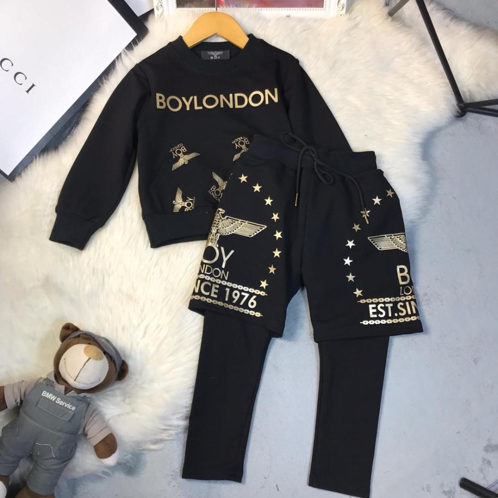 7bc439e618c2 Hoodie Set Cartoon Baby Spring Male Girl Leisure Time Suit Children ...