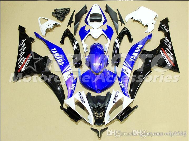 4 Free Gifts New Injection ABS Fairing kits 100% Fit for YAMAHA YZFR6 08 09 10 11 12 13 14 15 YZF R6 2008-2015 YZF600 set Blue White Q1