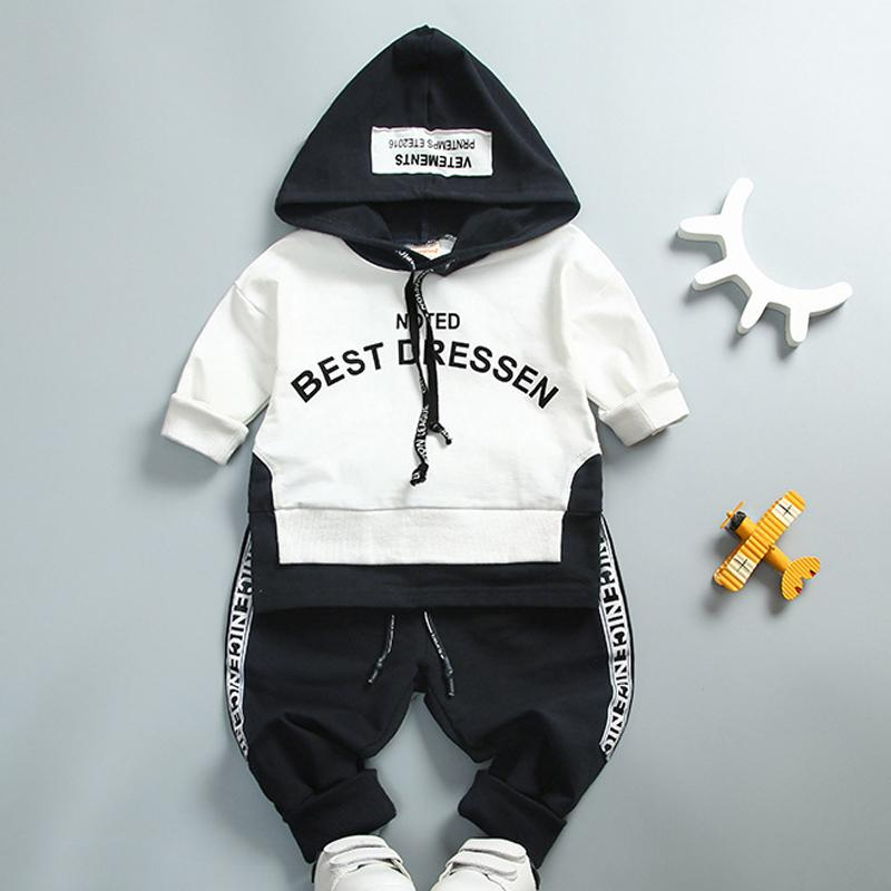 42e1a7ee843e 2019 Stitching Kids Clothing Sets For Boy Girl Baby Suit 2019 Letter ...