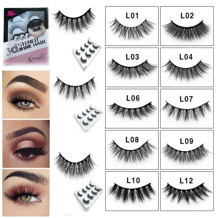 0686e72d0db Natural Long Mink Eyelashes Fake Eyelashes 3D Handmade Makeup Thick False  Eyelashes Set Crisscross Thick False Eye Lashes Eyelash Tint Lash Bar From  ...