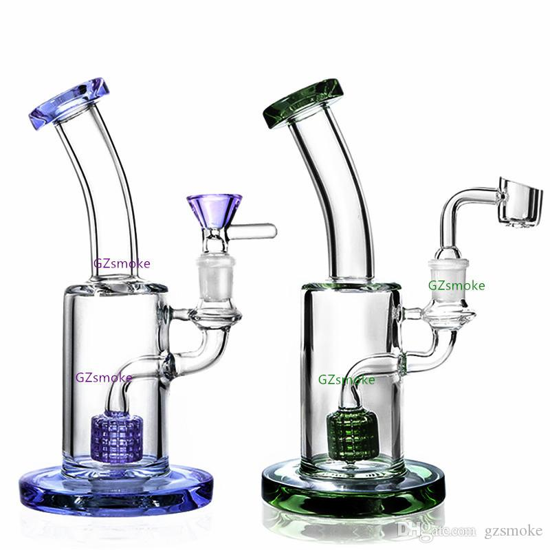 5mm Thick Matrix Perc Bent Neck Bong Heady Dabber Dubbler Dab Rig Water Pipe Oil Rigs Bongs With Bowl or Quartz Banger